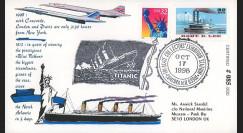"""CO98-TIT1 : 1998 - FDC USA """"Du Paquebot TITANIC au CONCORDE"""