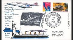 """CO98-TIT2 : 1998 - FDC USA """"Du Paquebot TITANIC au CONCORDE"""