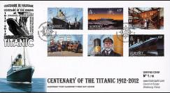 """TITA12-ALD : 2012 - ALDERNEY (GB) FDC 1er Jour """"1912-2012"""