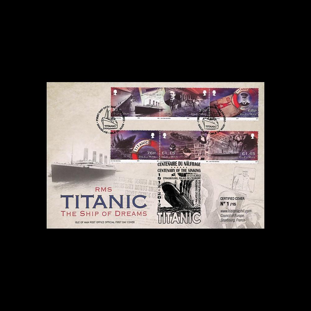 "TITA12-IOM : 2012 - ILE DE MAN (GB) FDC 1er Jour ""1912-2012"
