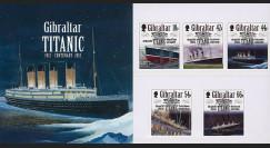 """TITA12-GIB-N : 2012 - GIBRALTAR (GB) Série de 5 valeurs """"1912-2012 Titanic Centenary"""""""