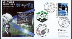 "VA205L-T1 : 2011 - FDC Kourou ""ARIANE 5 Vol 205 - ATV3 Edoardo Amaldi"" - TPP Armstrong"