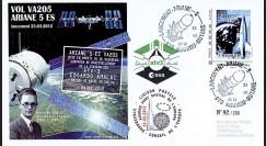 "VA205L-T2 : 2011 - FDC Kourou ""ARIANE 5 Vol 205 - ATV3 Edoardo Amaldi"" - TPP Espace"