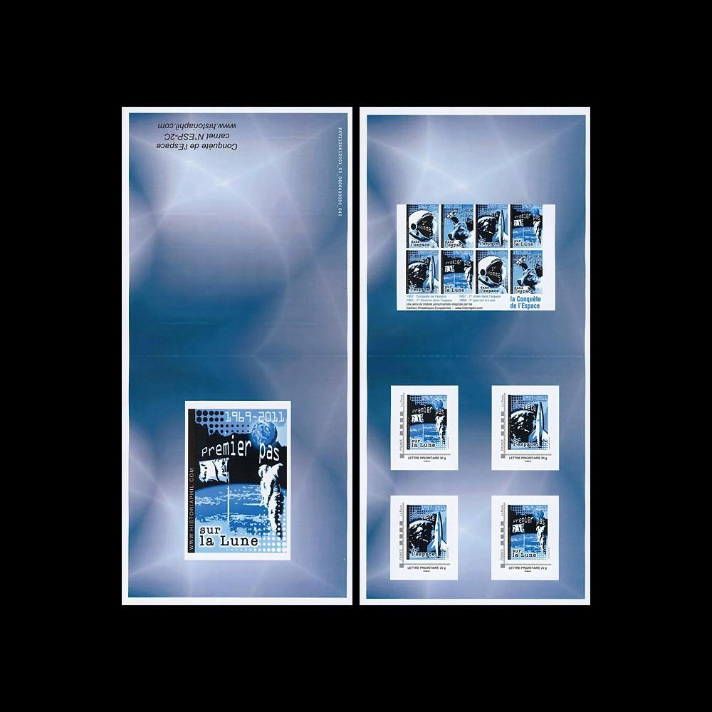 """ESP-2C : 2011 - Carnet Collector 4 TPP """"Espace - ARMSTRONG et le 1er Pas sur la Lune"""""""