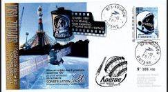 "VS01L : 2011 FDC Kourou ""SOYOUZ Vol N°01 - sat. IOV constellation Galileo"" - TPP Gagarine"