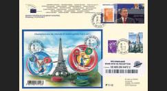 """PE619a : 04.2012 - FDC RECO PE """"Visite et Discours du Roi de Jordanie"""