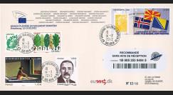 """PE618a : 03.2012 - FDC RECO PE """"UE : ERY de Macédoine"""