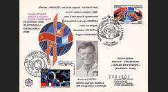 "ARAGATZ88-2 : 1988 - FDC FRANCE-URSS ""1er Jour SOYOUZ TM-7 / 1er Jour CNES - GLAVCOSMOS / Mission ARAGATZ"""