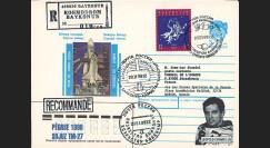 "PEGASE98-2 : 1998 - Pli Recommandé ex-URSS ""SOYOUZ TM-27 - Mission PEGASE"" (TYPE 2)"