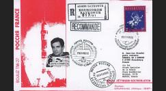 "PEGASE98-3 : 1998 - Pli Recommandé ex-URSS ""SOYOUZ TM-27 - Mission PEGASE"" (TYPE 3)"