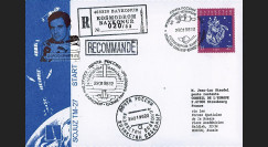 "PEGASE98-4 : 1998 - Pli Recommandé ex-URSS ""SOYOUZ TM-27 - Mission PEGASE"" (TYPE 4)"