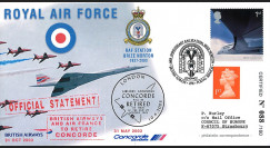 "CO03-RAF1 : 2003 - Pli GB ""66 ans RAF Station Brize Norton - retrait de Concorde"""