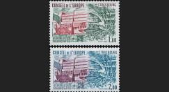 CE33-NF (Y&T 73/74) : 1982 -  TP de service du Conseil de l'Europe