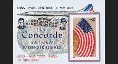 "CO-RETV3N4 : 2003 - USA porte-timbre ""Dernier vol commercial Concorde Air France"""