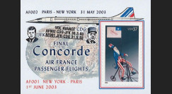 "CO-RETV3N6 : 2003 - USA porte-timbre ""Dernier vol commercial Concorde Air France"""