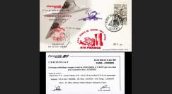 "CO87-6ATHD1 : Pli voyagé Concorde F-BVFF ""1er vol AF 4843 Paris - Athènes 12.6.1987"""