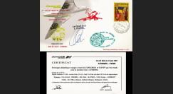 "CO87-6ATHD2 : Pli voyagé Concorde F-BVFF ""1er vol AF 4844 Athènes - Paris 12.6.1987"""