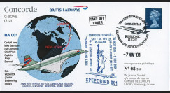 "G-BOAE7/11 : GB Pli spécial ""Reprise des vols Concorde British Airways Londres-NY 7.11.01"""