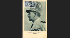 """W2-FR982B1 : 1954 - France CM """"Mal De Lattre de Tassigny"""