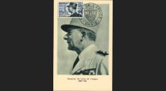 """W2-FR982B2 : 1954 - France CM """"Mal De Lattre de Tassigny"""