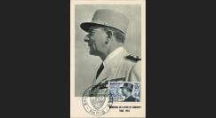 """W2-FR982B2S : 1954 - France CM """"Mal De Lattre de Tassigny"""