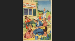 """W2-AL0507 : 1944 - CP ALLEMAGNE """"Aide maternelle des crêches - Aide sociale Parti nazi"""""""