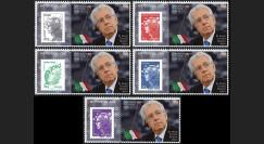 """PE617-PT1-5 : 2012 - 5 porte-timbre """"Parlement européen : 1er Ministre italien M. MONTI"""""""