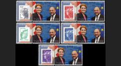 """PE612-PT1-5 : 2012 - 5 porte-timbre """"Parlement européen : Présidence danoise de l'UE"""""""
