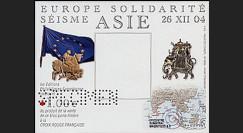 PE494B : 2005 - Bloc porte-timbre solidarité aux victimes du séisme en Asie