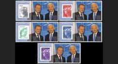 """PE611-PT1-5 : 2011 - 5 porte-timbre """"Parlement européen : MM.Tusk et Buzek"""