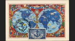 """W2-FR889A1 : 1951 - France Carte Maxi """"Cinquantenaire des Troupes Coloniales"""