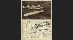 """LZ127-061 : 1932 - CP ALLEMAGNE """"Atterrissage du Graf Zeppelin LZ127 à Friedrichshafen"""""""