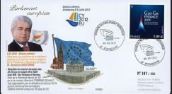 """PE622 : 2012 - FDC Parlement européen """"Visite M. CHRISTOFIAS"""