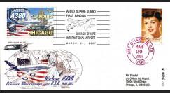 A380-46T1 : 2007 - A380 1er atterrissage aux Etats-Unis - Chicago