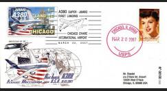 A380-46T2 : 2007 - A380 1er atterrissage aux Etats-Unis - Chicago