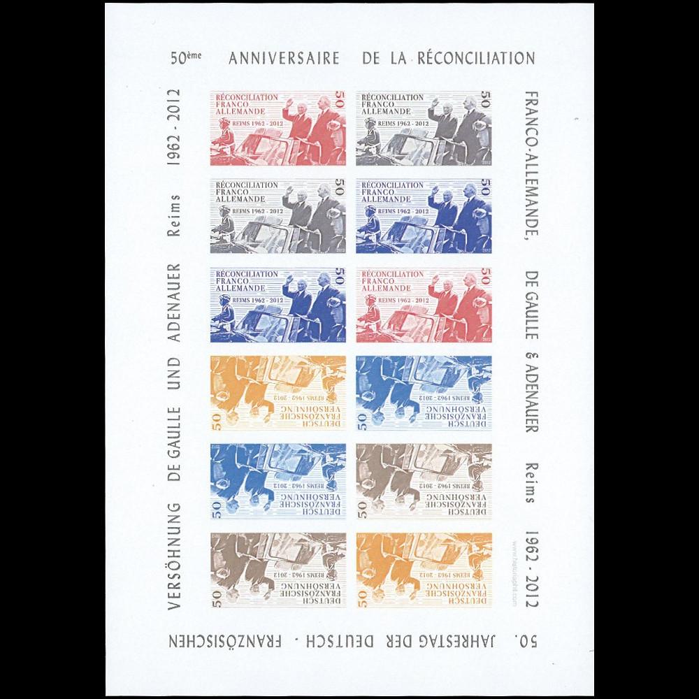"""DG12-3FND : 2012 - Feuillet """"50 ans Réconciliation franco-allemande"""