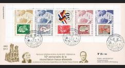 """DG12-4T1 : 2012 - FDC-carnet """"50 ans Réconciliation franco-allemande"""