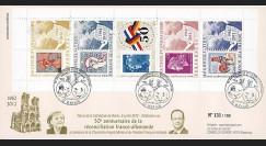 """DG12-4T2 : 2012 - FDC-carnet """"50 ans Réconciliation franco-allemande"""