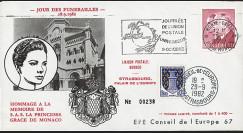 """MC82-GRA1 : MONACO Pli """"Funérailles de la Princesse Grace de Monaco le 18.09.1982"""""""