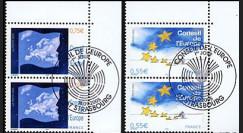 CE56-PJ2 : 2005 - Timbres de service du Conseil de l'Europe en paire