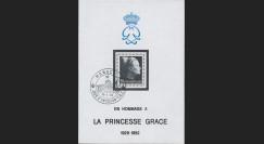 """MC83-GRA1BO : MONACO Bloc timbre de deuil 10F noir """"Hommage à la Princesse Grace"""""""