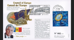 """CE52-III : 2001 - FDC Conseil Europe """"Allocution du Président de Moldova"""