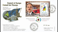 "CE63-IVB : 2012 - FDC Conseil Europe ""Visite de M. NISHANI"