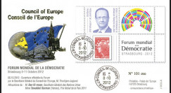 "CE63-F : 2012 - FDC Conseil Europe ""Forum mondial de la Démocratie - M. Hollande"""