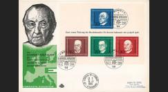 AL68-AD1B : FDC 1er Jour Allemagne bloc Adenauer / Churchill / de Gasperi / Schuman