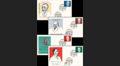 AL68-AD1S : 1968 - Série 1er Jour Allemagne Adenauer / Churchill / de Gasperi / Schuman