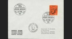 AL68-AD2EO : 1968 - Enveloppe à entête PE - 1er Jour Allemagne 30Pf K. Adenauer