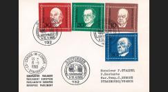 AL68-AD3EO : 1968 - FDC 1er Jour Allemagne Adenauer / Churchill / de Gasperi / Schuman