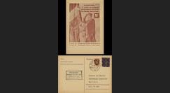 NEY46-1A : 1946 - France Entier postal de Lattre de Tassigny - 6Pf violet Hitler en cage