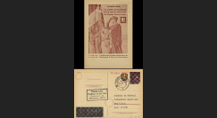 NEY46-3A : 1946 - France Entier postal de Lattre de Tassigny - 6Pf rose Hitler en cage